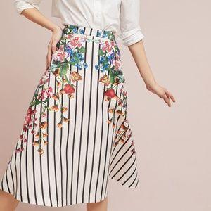 Maeve Striped Splendor Skirt size S